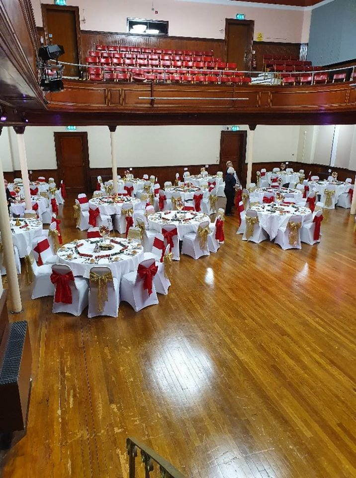 Town Hall Ready For Sell Out Fair Christmas Party Night